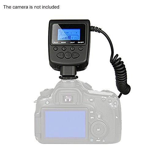 RF-550D Macro 48 LED Ring Flash Light LCD Display Power Control Speedlite for Canon Nikon Pentax Olympus Panasonic Sony