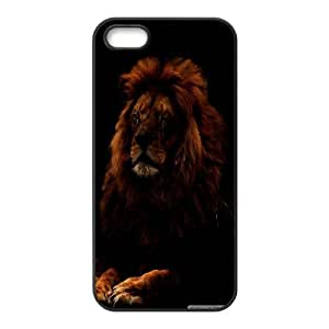 IPhone 5,5S Cases Lion 15, Vety, [Black]