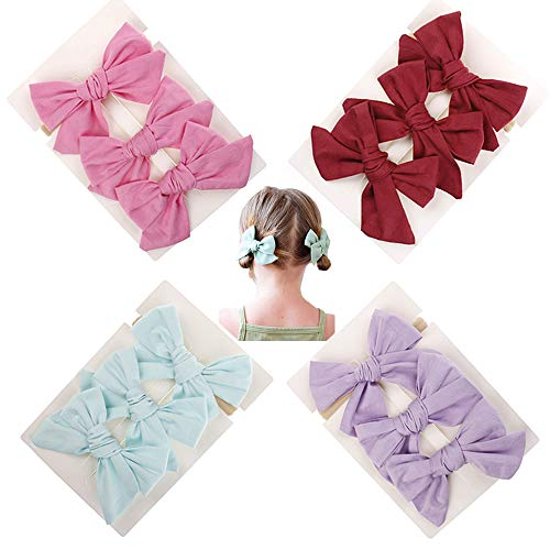 Slip Baby Snap Clip - Baby Girl Hair Bow Set Spring Floral Print Bows Headbands Clip Alligator Hair Clips for Toddlers Kids (Multicoloured Big Bow ASXM723)