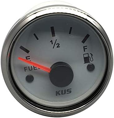 KUS Justifi/ées carburant de niveau dhuile Indicateur de m/ètre 0-190ohm avec r/étro/éclairage 12//24V 52mm