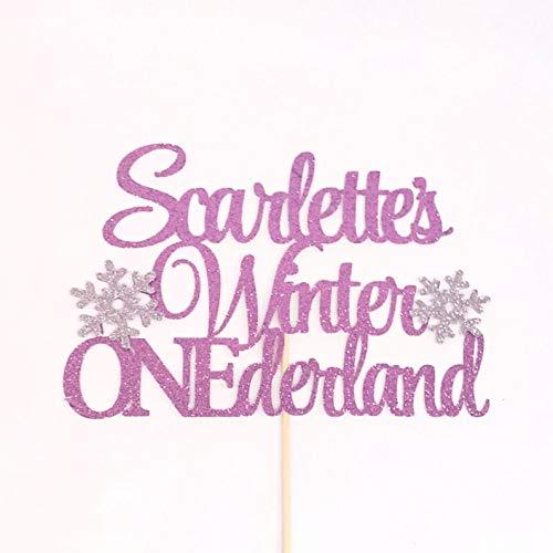 Atelier Elegance Any Name Winter Onederland Cake Topper Snowflake Cake Topper 1st Birthday Topper