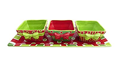 Certified International Christmas Presents 4-Piece Server Set