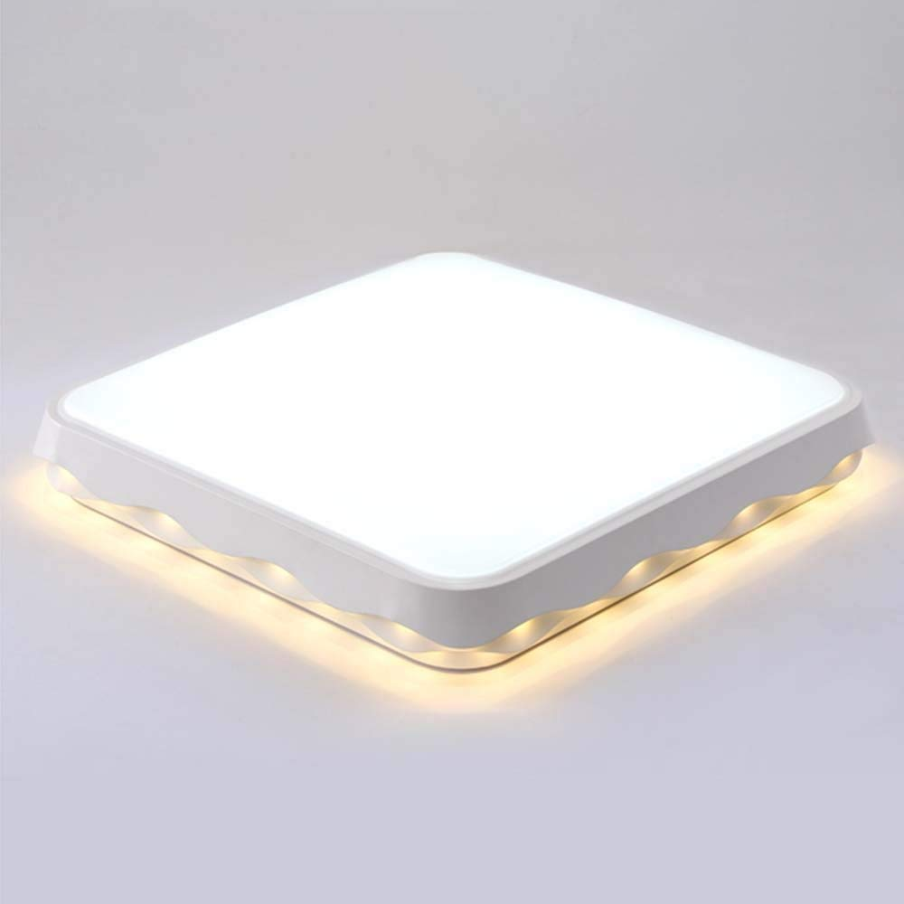 Tuyishangmao シーリングライト - 北欧ledシンプルなクリエイティブ調節可能な正方形の鉄の天井灯のリビングルームモダンなダイニングルームの寝室の天井灯 (Color : White-light-44*44*10cm)  White-light-44*44*10cm B07SMQ2KNP