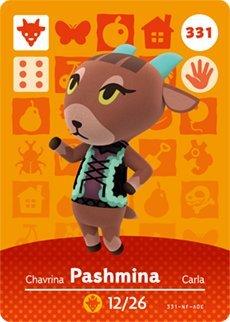 Pashmina Nintendo Animal Crossing Designer Amiibo