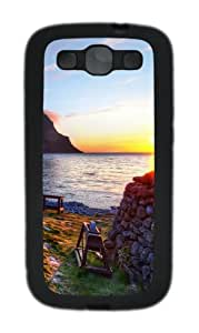 Turf Roof Custom Design TPU Samsung Galaxy S3 Case and Cover - Black