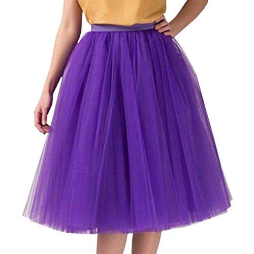 Femmes Tutu Midi pour Dancing Court Qualit Jupe de Violet Tulle Sixcup Courte Jupon en Haute Ballet Plisse Adulte XHRdwqn