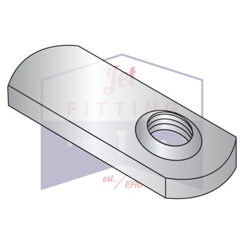 14-28 Tab Weld Nuts | Offset Hole Design; .812?? Tab Base, Without Projections | 18-8 Stainless Steel (QUANTITY: 1000) by Jet Fitting & Supply Corp