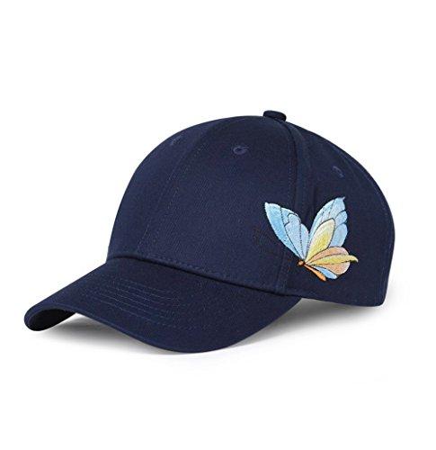 Butterfly Visor - Kokkn BTS Baseball Cap K-pop Bangtan Boys Outdoor Iron Ring Snapback Hat Casual Adjustable Dad Hat Hip Hop Hat (Butterfly-Blue)