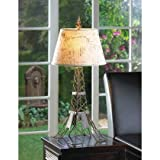 Table Lamps Shade Eiffel Tower College Student Desk Reading Lamp Bedroom Living Room Indoor Contemporary Tiffany Mainstays