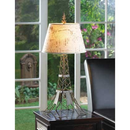Table Lamps Shade Eiffel Tower College Student Desk Reading Lamp Bedroom Living Room Indoor Contemporary Tiffany Mainstays by DecorDuke (Image #1)