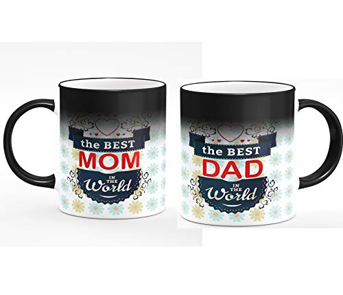 Youth Style™ Heat Colour Changing Magic Coffee Mug Set of 2 for Mom Dad Gift on Anniversary & Birthday Gift (Magic) Price & Reviews