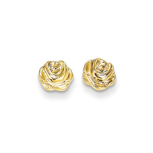 Price comparison product image 6mm Rose Bud Post Earrings in 14K Yellow Gold
