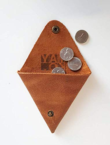 Minimalist Purse Coin Pouch Small Wallet Unisex Leather Change Snap Pocket Wallet Handmade Leather Accessories Gift