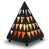 Himalayan Glow 1359 Pyramid Himalayan Salt Lamp Light Bulbs and Dimmable Cord, 5 lbs, Pyramid Salt Lamp