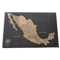 Mapa De Corcho México Con Pueblos Mágicos Tendencia Decoración 2019