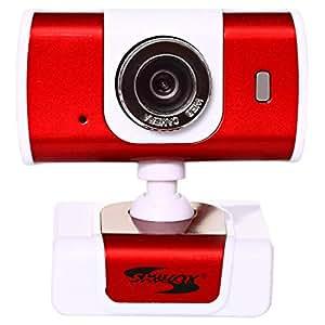 Shivox Web Camera SX-8026, Red and White