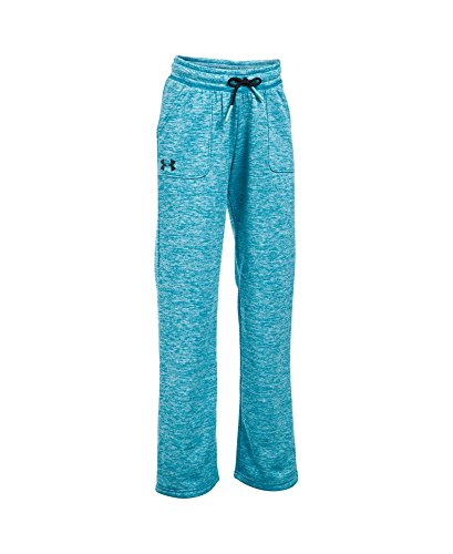 Under Armour Girls' Storm Twist Armour Fleece Training Pants, Youth X-Large, Teal Blast - Blast Youth