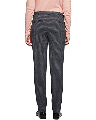 Comma CI 88.512.76.8157-Pantalones Mujer Grau (grey/black pin stripe 98J5)