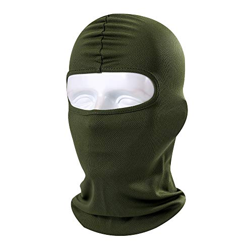 Skull Stretch Face Mask - NANSI Lycra Fabrics Ultra-Thin Ski Face Mask Motorcycle Cycling Bike Warm Balaclava Bandana Hiking Skateboard Hood(ArmyGreen)