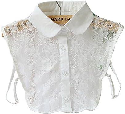 Women/'s Detachable Faux Fake False Lapel White Lace Shirt Collar Necklace Choker