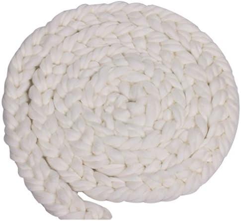 Kesoto ベビーシャワー ラグ 毛布 敷物 出産祝い 記念写真 小道具 編み込み ウールスピニング 可愛い 快適 ソフト 全9色