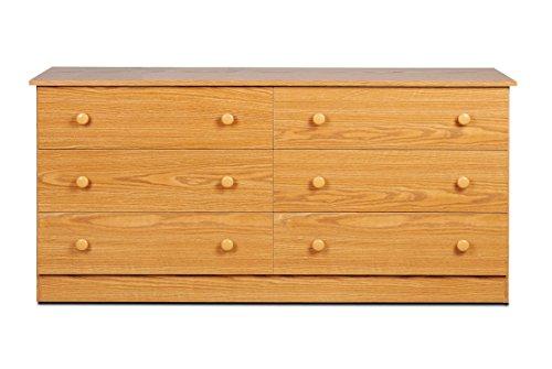 Prepac Oak 6-Drawer Dresser