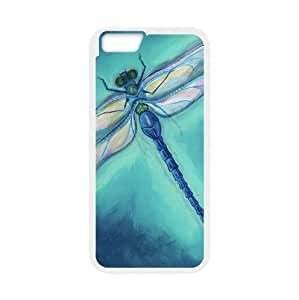 Beautiful Dragonfly Collectible Art,Dragonflies Plastic and TPU (Laser Technology) Cover Case for Apple iphone 6 (4.7