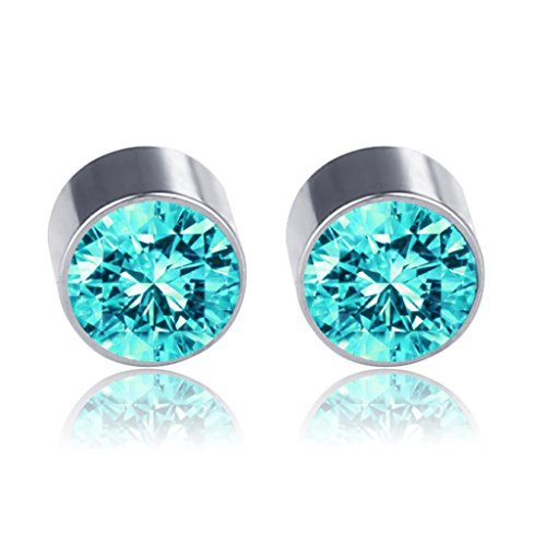 Earrings,NNDA CO 1 Pair Fashion Weight Loss No Piercing Magnet Ear Stud Earrings for Men Wome (Acid ()