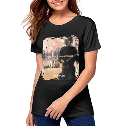 Nathalie R Salmeron Placebo A Place for Us to Dream Womens Short Sleeve Crewneck T-Shirt M Black