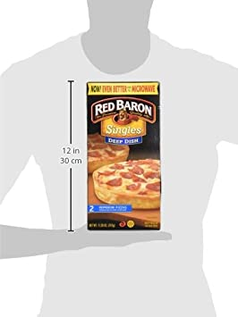 Red Baron, Deep Dish Singles Pepperoni Pizza, 11.20 oz (Frozen): Amazon.com: Grocery & Gourmet Food