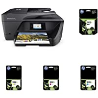 HP OfficeJet Pro 6968 Wireless All-in-One Photo Printer with XL Ink Bundle