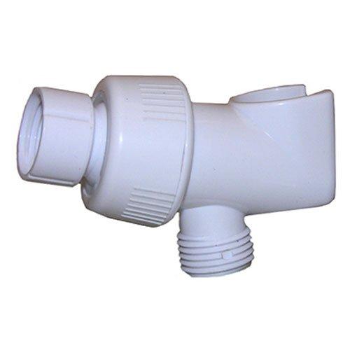 LASCO 08-2423 Personal Shower Hand Held Bracket, Shower Arm Mounted, White Plastic