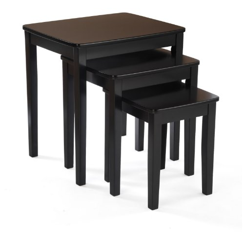 Bay Shore Collection Nesting End Table Set, 3-Piece Espresso