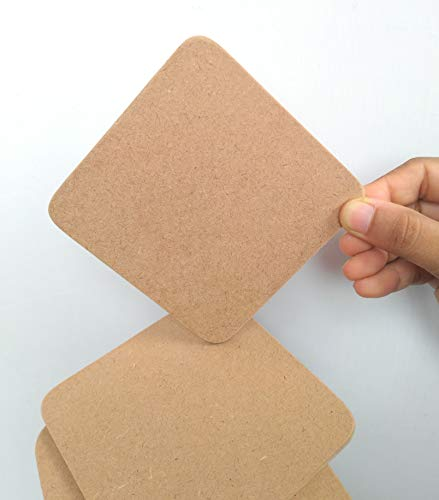 T one woods Plain square MDF Coaster for Decoupage DIY Crafts, Tabletop (3.5-Inch) -12 Pieces Price & Reviews