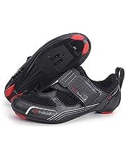 Tiebao - Zapatillas de triatlón para Exteriores o de Ciclismo para Interior o para Spinning Compatible con SPD, SPD-SL, Look-KEO para Hombres y Mujeres