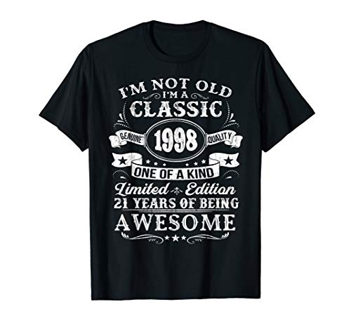 Classic 1998 T-Shirt 21st Birthday Gift Ideas