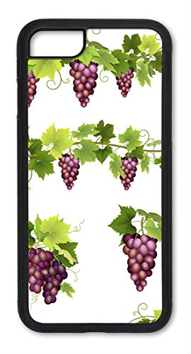 iPhone 6 / 6S Case, Slim Fit - Hard Shell Plastic - Full Protective Cover for Apple iPhone 6 & 6S - Purple Grapes on -