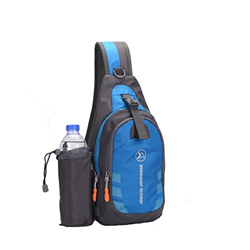 Sling Bag backpack Outdoor Shoulder Waterproof Unbalance Crossbody Bag Chest Pack Bike Blue