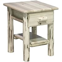 Montana Woodworks MWND Montana Collection Nightstand/End Table with Drawer & Shelf, Ready to Finish