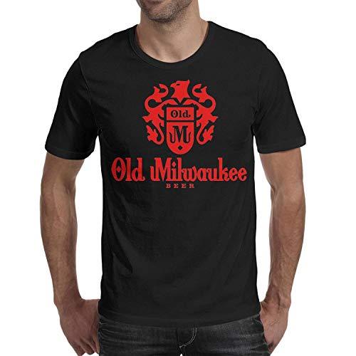 Ruslin Short-Sleeve Cotton Old Milwaukee Beer T-Shirt for Men