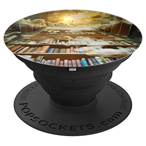 - Library Books to the Sky with Clouds and Birds - PopSockets Grip and Stand for Phones and Tablets
