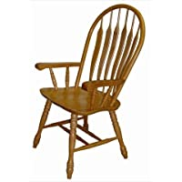 Sunset Trading Sunset Comfort Arm Chair in Light Oak