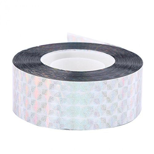 3 pcs 90M Bird Deterrent Tape Audible Visual Flash Reflective Scare Repeller Ribbon (Repeller Single)