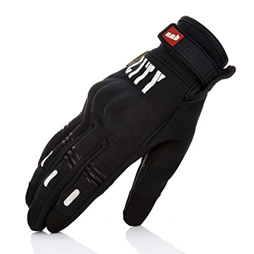 AMCER Full Finger Protective Glove Mountain Bike Motorcycle Road Riding Fitness Gloves with Touch Screen Silicone Hand Wrist Strap Slip Waterproof for Men and Women XX-L