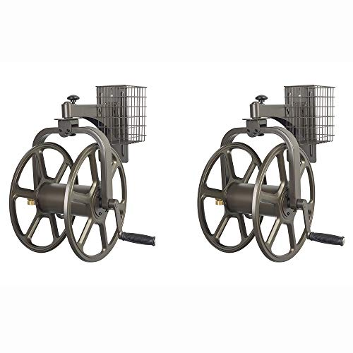 Liberty Garden Single Arm Navigator Rotating Hose Reel & Sto
