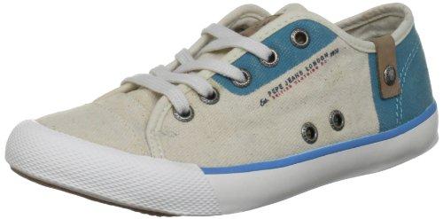 Pepe Jeans London BTJ-271 D1 - Zapatillas de lona infantil azul - Blau (Bright Blue)