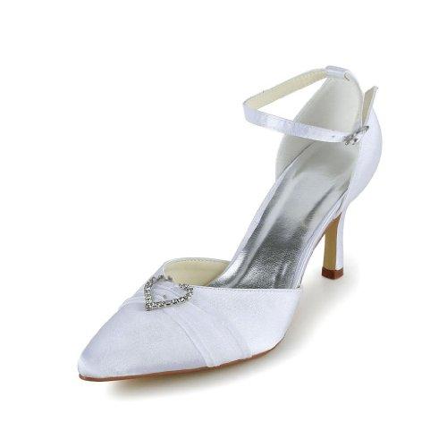 mariée pour femme Wedding mariage Blanc chaussures Escarpins JIA A314B JIA de 8qxgAAHXw