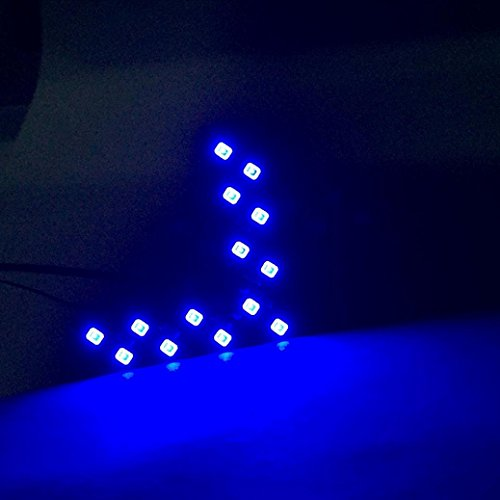 Gotd 14 SMD LED Arrow Panel For Car Rear View Mirror Indicator Turn Signal Light - Led Arrow Mirrors Blue