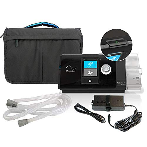 Auto Adjust Cpap System - Res_Med_AirSense 10 AutoSet_ Machine with HumidAir, Standard Hose and Carry case (37207
