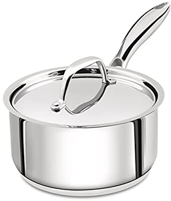 Utopia Kitchen 2 Quart Sauce Pan with Lid - Induction Compatible Stainless Steel Saucepan - Dishwasher Safe